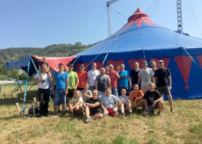 Zirkus Aufbauteam